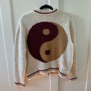 URBAN OUTFITTERS ECOTÉ PEACE SIGN SWEATER JACKET